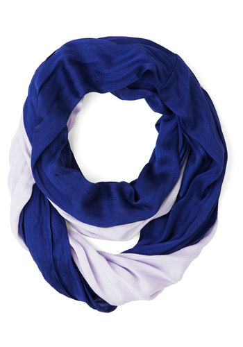 Two by Two-Tone Circle Scarf in Violet/Lilac - Purple, Solid, Casual, Colorblocking, Variation, White, Good, Purple