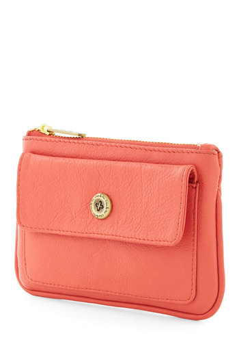 Buy the Bunch Wallet by Ollie & Nic - Coral, Solid, Travel, Leather, International Designer, Minimal