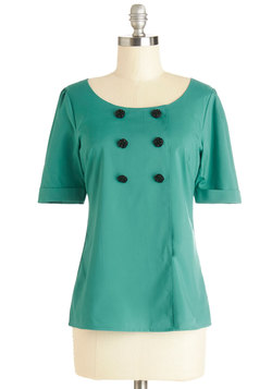 Drama Club President Top in Turquoise