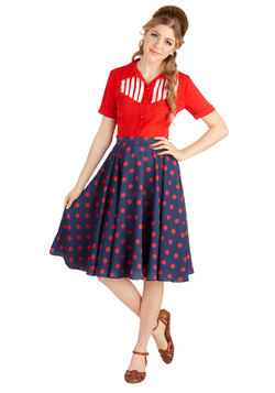 Ikebana for All Skirt in Dots