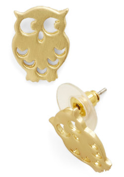 Seeing Eye to Fly Earrings in Gold
