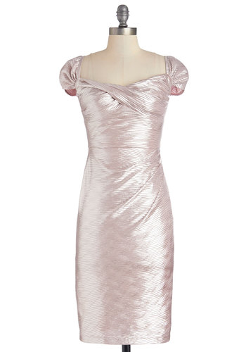 Bling in a New Year Dress in Pink by Stop Staring! - Pink, Solid, Special Occasion, Vintage Inspired, Shift, Sleeveless, Better, Sweetheart, Knit, Mid-length, Variation, Party, 80s