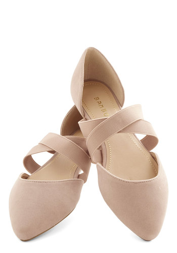 Oh Strappy Day Flat in Tan - Flat, Faux Leather, Tan, Solid, Good, Variation, Casual