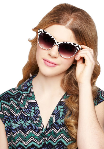 Chevron and On Sunglasses - Chevron, Good, Black, White, Summer, Festival