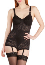 Elegant Underpinnings Corselet in Black