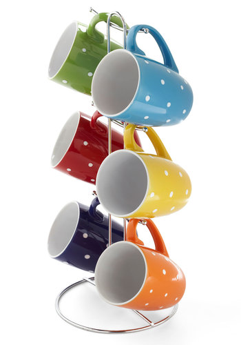 Brew What You Want Mug Set - Multi, Good, Polka Dots