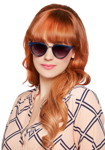 Reminded By the Light Sunglasses in Navy - Blue, Silver, Solid, Better, Variation, Summer, Beach/Resort
