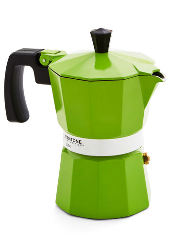 Discerning Palette Coffee Maker in Green Shoots - 3 Cup - Green, Mod, Mid-Century, Minimal, Better, Solid, Variation