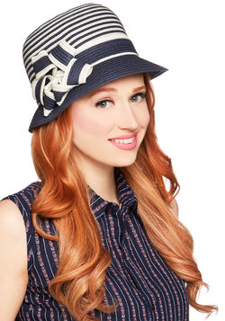 Keep Your Friends Cloche Hat in Navy
