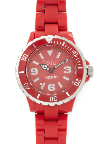 Scents of Time Watch in Apple - Red, Solid, Casual, Silver, Better, Variation, Red, Graduation, Fruits, Statement