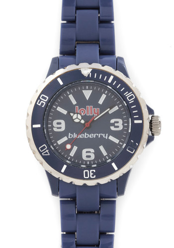 Scents of Time Watch in Blueberry - Blue, Solid, Casual, Silver, Better, Variation, Blue, Graduation, Fruits
