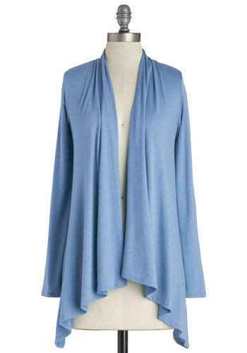 Ready, Set, Bake Cardigan in Sky - Knit, Blue, Solid, Long Sleeve, Good, Blue, Long Sleeve, Variation, Casual, Beach/Resort