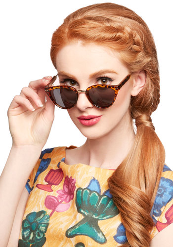 Reminded By the Light Sunglasses in Tortoise - Tan, Brown, Animal Print, Better, Variation, Pinup, Summer, Beach/Resort, Festival