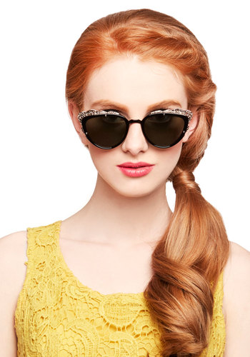 The Head and the Art Sunglasses in Black - Black, Gold, Solid, Trim, Better, Variation, Nifty Nerd, Summer, Quirky
