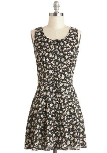 Strum Strum Girls Dress - Multi, Floral, Backless, Casual, A-line, Good, Scoop, Short, Festival, Sundress, Spring, Vintage Inspired, 90s, Sleeveless