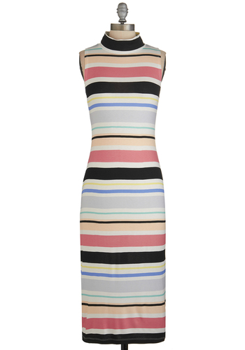 Lead Designer Dress - Multi, Stripes, Casual, Maxi, Sleeveless, Better, Long, Knit, Summer