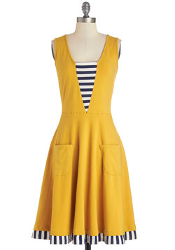 Sailboat-load of Fun Dress in Marigold