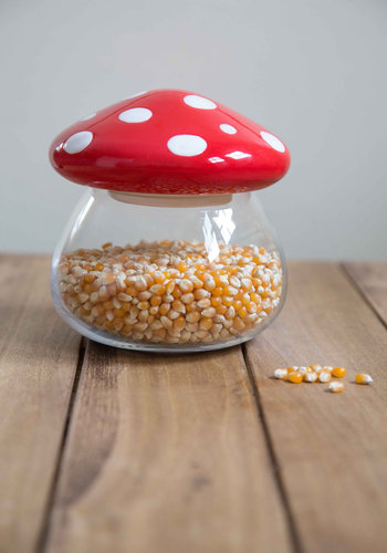 Amanita Second Helping Jar by One Hundred 80 Degrees - Red, Mushrooms, Good, White, Polka Dots, Hostess, Wedding