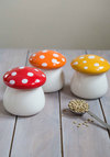 Amanita Second Helping Jar Set by One Hundred 80 Degrees - Multi, Mushrooms, Better, Red, Orange, Yellow, White, Polka Dots
