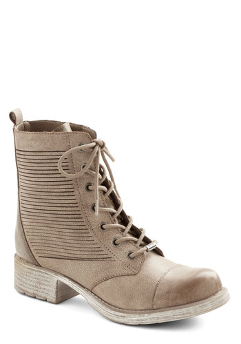 Lunch at the Lookout Boot - Low, Leather, Solid, Cutout, Military, Better, Lace Up, Tan, Casual