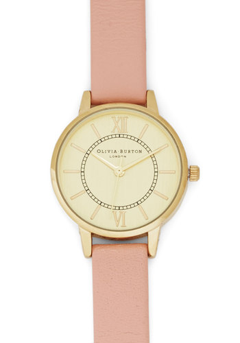 Elegant in Any Occasion Watch in Pink & Gold by Olivia Burton - Pink, Solid, Gold, Better, Luxe, International Designer, Pink, Social Placements, Work