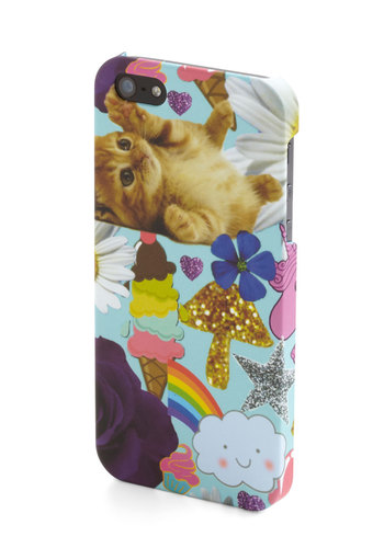 Cutest Collage iPhone 5/5S Case - Blue, Multi, Print with Animals, Quirky, Cats, Novelty Print, Kawaii