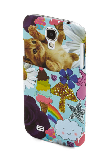 Cutest Collage Galaxy 4 Case - Print with Animals, Kawaii, Quirky, Cats, Multi, Novelty Print, Gals, Under $20, Critters