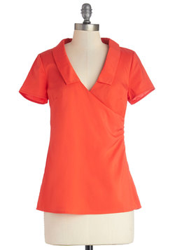 A Certain Degree Top in Vermillion