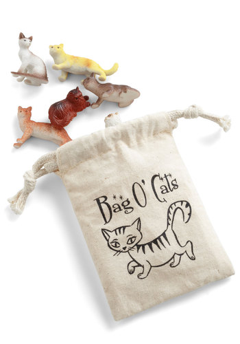 Cat Do It Alone Mini Figurine Set - Multi, Cats, Good, Print with Animals, Critters, Under $20