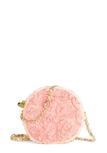 Betsey Johnson Everyone Rose Bag by Betsey Johnson - Pink, Solid, Special Occasion, Better, Pink, Chain, Flower, Wedding, Spring, Social Placements, Bridesmaid, Bride, Quirky