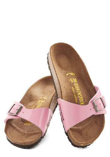 Zest Foot Forward Sandal in Rose by Birkenstock - Flat, Faux Leather, Pink, Beach/Resort, Pastel, Better, Casual, Boho, Vintage Inspired, 70s, Summer, Variation, Festival, 90s