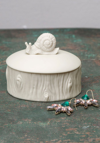 Come One, Come Mollusk Keepsake Box by Streamline - White, Folk Art, Rustic, Quirky, Good, Critters
