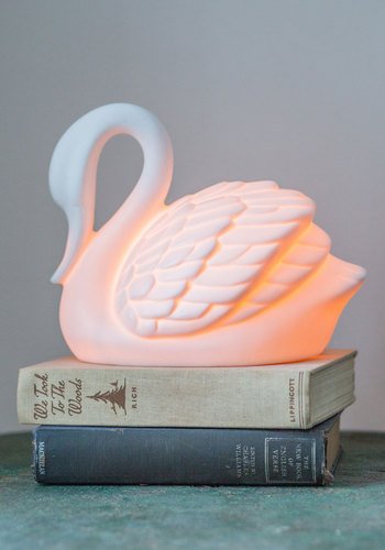 Swans in a Lifetime Lamp by Streamline - White, Solid, Dorm Decor, Quirky, Better, Critters, Wedding