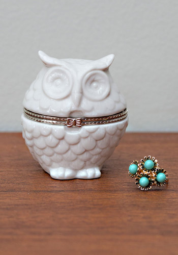 Getting Owl Organized Keepsake Box - White, Owls, Good, Critters, Wedding, Gals, Under $20, Woodland Creature
