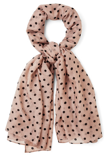 Dots to Discuss Scarf in Tan - Tan, Black, Polka Dots, Better, Variation, Spring