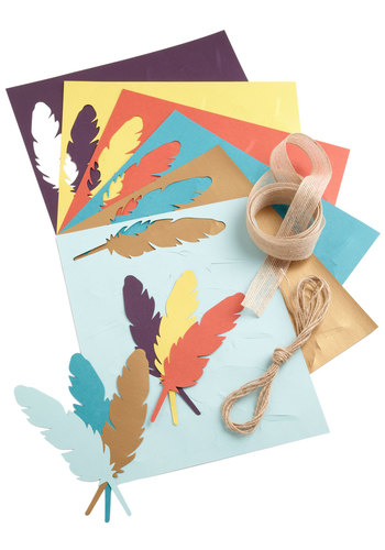Thread Your Wings Paper Feather Kit - Multi, Boho, Good, Handmade & DIY, Under $20, Summer, Festival