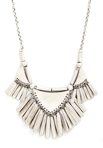 Rule of Thirds Necklace - Solid, Statement, Festival, Silver, Good, Beach/Resort