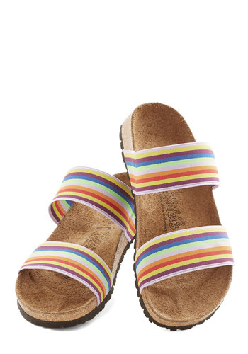 Ex-spectrum the Best Sandal by Birkenstock - Flat, Woven, Multi, Stripes, Beach/Resort, Best, Casual, Boho, Festival, Summer, 90s