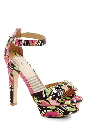 Attention Everyone! Heel in Tropical by Dolce Vita - High, Woven, Multi, Floral, Bows, Party, Girls Night Out, Better, Platform, Variation, Statement, Summer