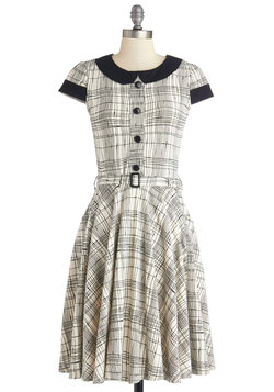 Adorable Artist Dress in Plaid