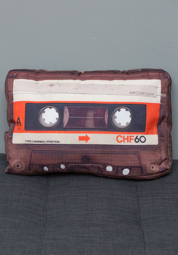 Radio-Dubbed Dreams Pillow - Multi, Vintage Inspired, 80s, Dorm Decor, Music, Good, Guys, Press Placement