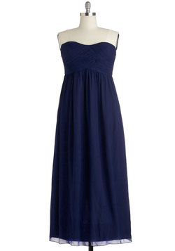 Gliding through the Garden Dress in Navy - Plus Size
