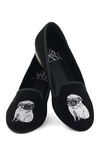 Wisdom by Winston Flat - Black, Print with Animals, Menswear Inspired, Quirky, Flat, White, Casual, Critters