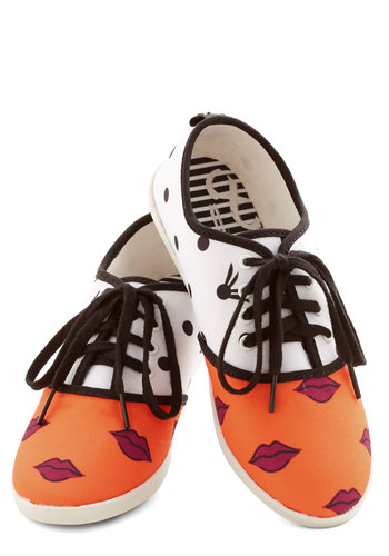 Quirk It Sneaker in Lips by Dolce Vita - Flat, Woven, Multi, Novelty Print, Casual, Urban, Good, Lace Up, Quirky, Variation, Statement