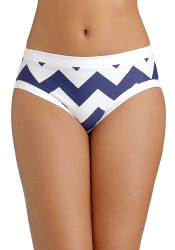 Kite on Time Swimsuit Bottom - Knit, Blue, White, Chevron, Beach/Resort, Summer, Tankini, Americana
