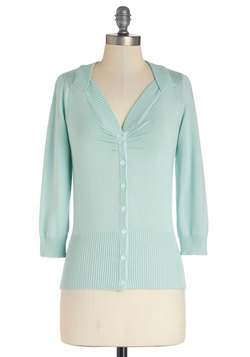 Meringue My Day Cardigan in Mint