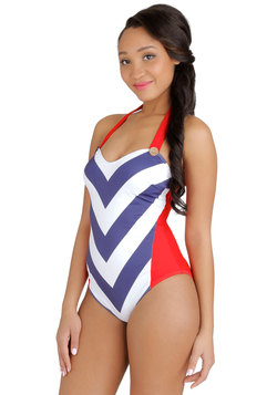 Mast From the Past One-Piece Swimsuit