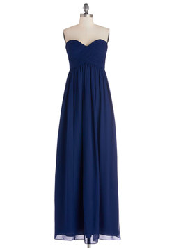 Gliding through the Garden Dress in Navy