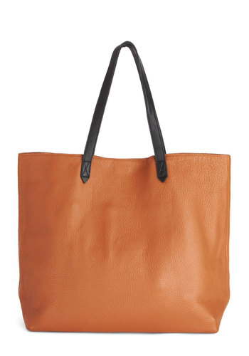 Uptown Errands Bag - Leather, Tan, Brown, Solid, Work, Minimal, Best, Basic, Travel, Maternity, Maternity, Social Placements, Fall, Winter