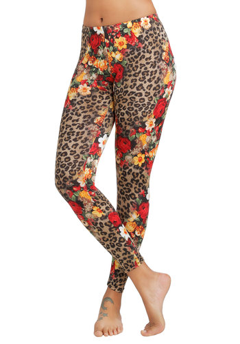 The Call of the Styled Leggings - Skinny, Good, Mid-Rise, Full length, Multi, Non-Denim, Knit, Multi, Floral, Animal Print, Statement, Spring